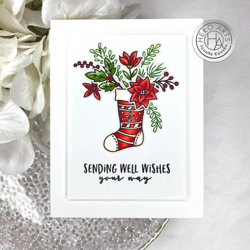 Stocking Bouquet, Hero Arts Clear Stamps - 085700927666