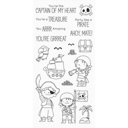 Party Like a Pirate by Birdie Brown, My Favorite Things Clear Stamps - 849923036228