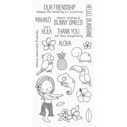 Polynesian Paradise by Birdie Brown, My Favorite Things Clear Stamps - 849923036235