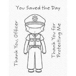 Pure Innocence - Thank You, Officer, My Favorite Things Clear Stamps - 849923036273