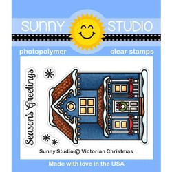 Victorian Christmas, Sunny Studio Clear Stamps -