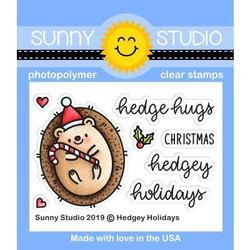 Hedgey Holidays, Sunny Studio Clear Stamps -