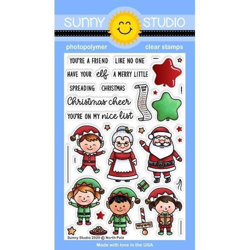 North Pole, Sunny Studio Clear Stamps -