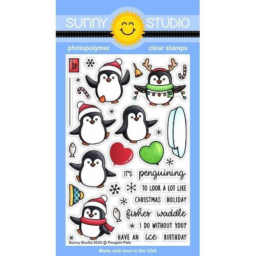 Penguin Pals, Sunny Studio Clear Stamps -