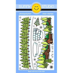 Winter Scenes, Sunny Studio Clear Stamps -
