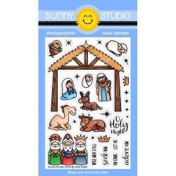 Holy Night, Sunny Studio Clear Stamps -