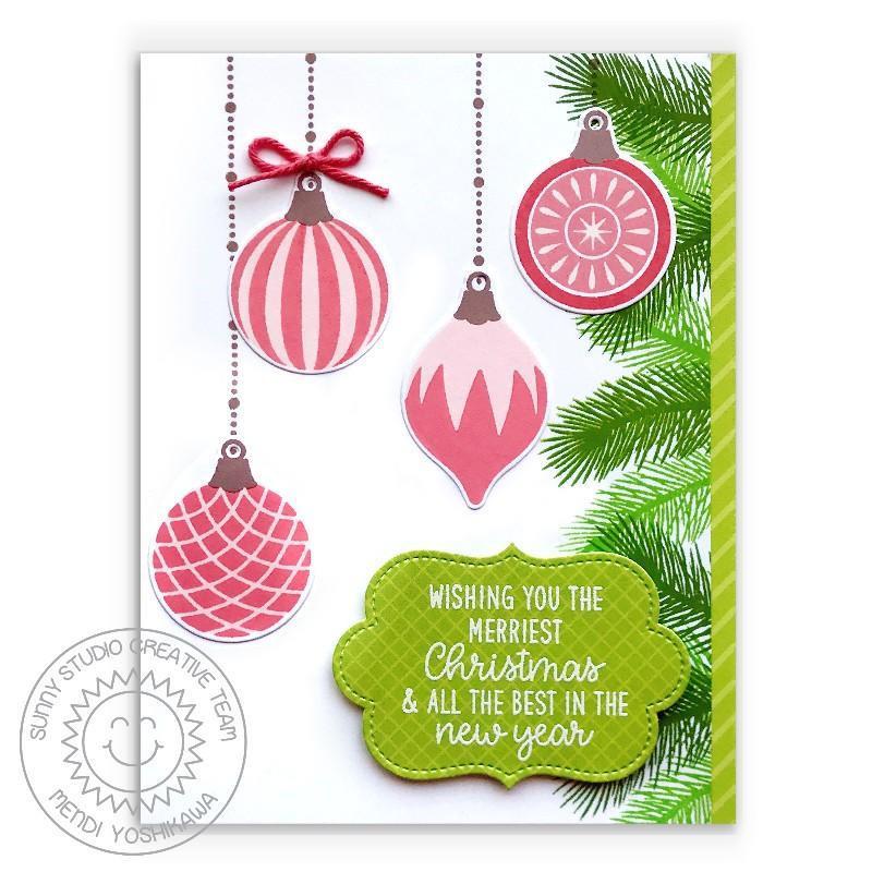 Retro Ornaments, Sunny Studio Clear Stamps -
