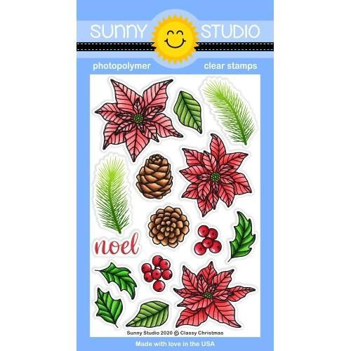Classy Christmas, Sunny Studio Clear Stamps -