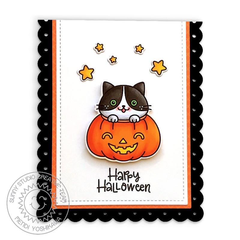 Scaredy Cat, Sunny Studio Clear Stamps -
