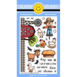 Farm Fresh, Sunny Studio Clear Stamps -