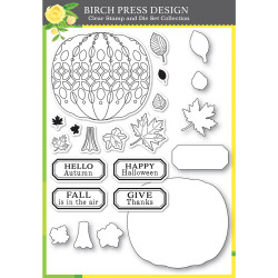 Pumpkin Lacework, Birch Press Design Stamp & Die Set -