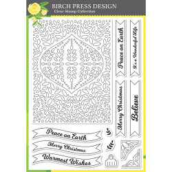 Christmas Ornament and Labels, Birch Press Design Clear Stamps -