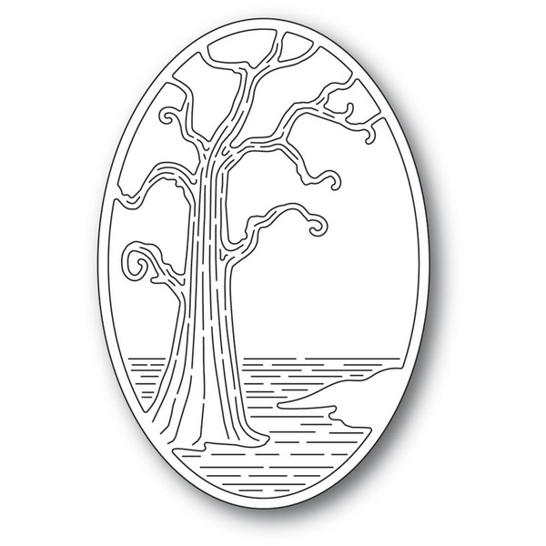 Twisted Tree Oval, Poppystamps Dies -