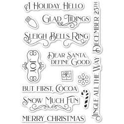 Christmas Fun, Poppystamps Clear Stamps -