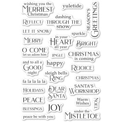 Christmas Greetings, Poppystamps Clear Stamps -