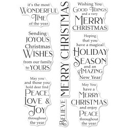 Joyous Christmas Wishes, Poppystamps Clear Stamps -