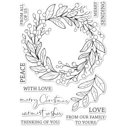 Berry Wreath, Memory Box Clear Stamps -