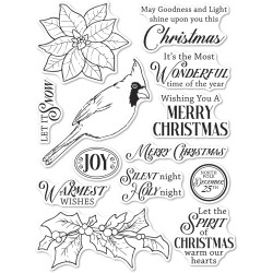 Spirit of Christmas, Memory Box Clear Stamps -