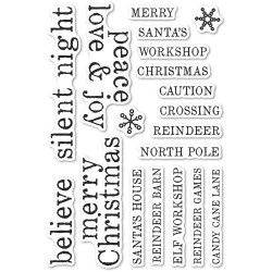 Christmas Tiles, Memory Box Clear Stamps -