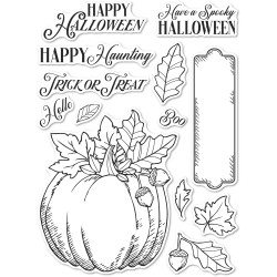 Halloween Pumpkin, Memory Box Clear Stamps -