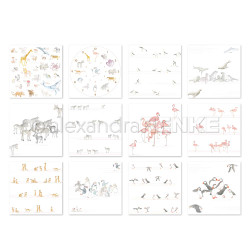 Alphabet of Animals Collection, Alexandra Renke Paper Pack -