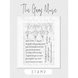 Forever Fuchsia, The Gray Muse Clear Stamps -