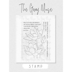 Lovely Lotus, The Gray Muse Clear Stamps -