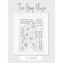 Pretty Pansies, The Gray Muse Clear Stamps -