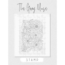 Friend, The Gray Muse Clear Stamps -
