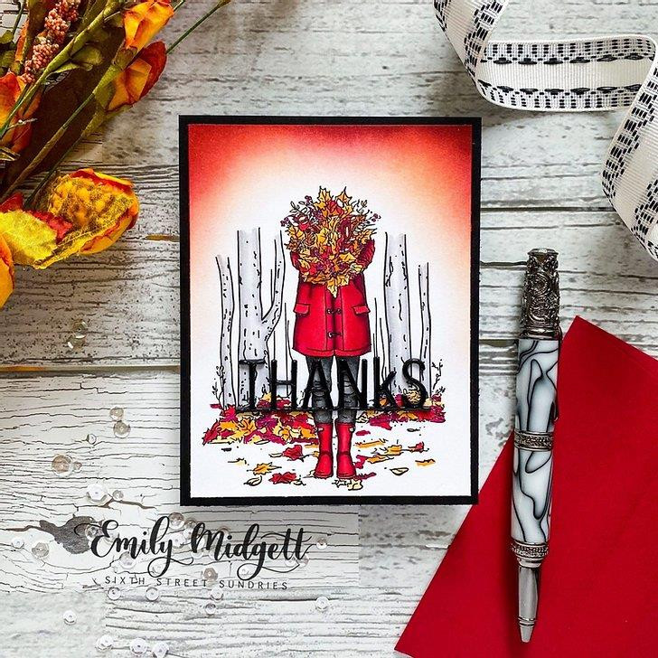 Autumn Season Leaves, Colorado Craft Company Clear Stamps -