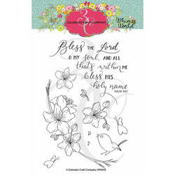 Bless the Lord Blossoms, Colorado Craft Company Clear Stamps -