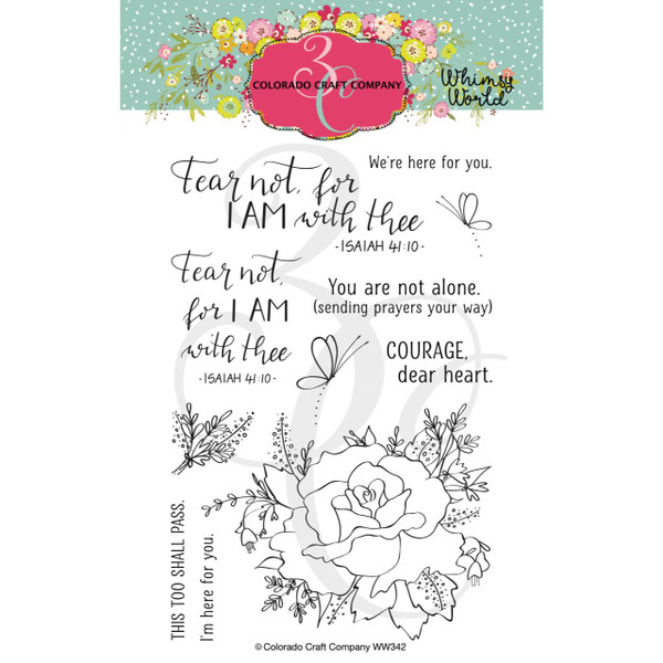 Fear Not Rose, Colorado Craft Company Clear Stamps -