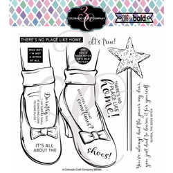 Ruby Slippers, Colorado Craft Company Clear Stamps -