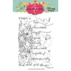 Whatsoever Things Spray, Colorado Craft Company Clear Stamps -