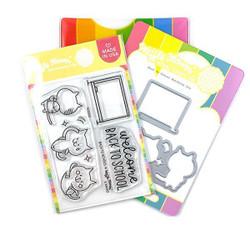 Back to School, Waffle Flower Stamp & Die Combo -