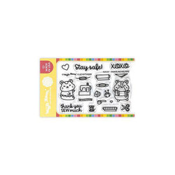 Frontline Helpers, Waffle Flower Clear Stamps -