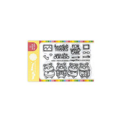 Frontline Heroes 1, Waffle Flower Clear Stamps -