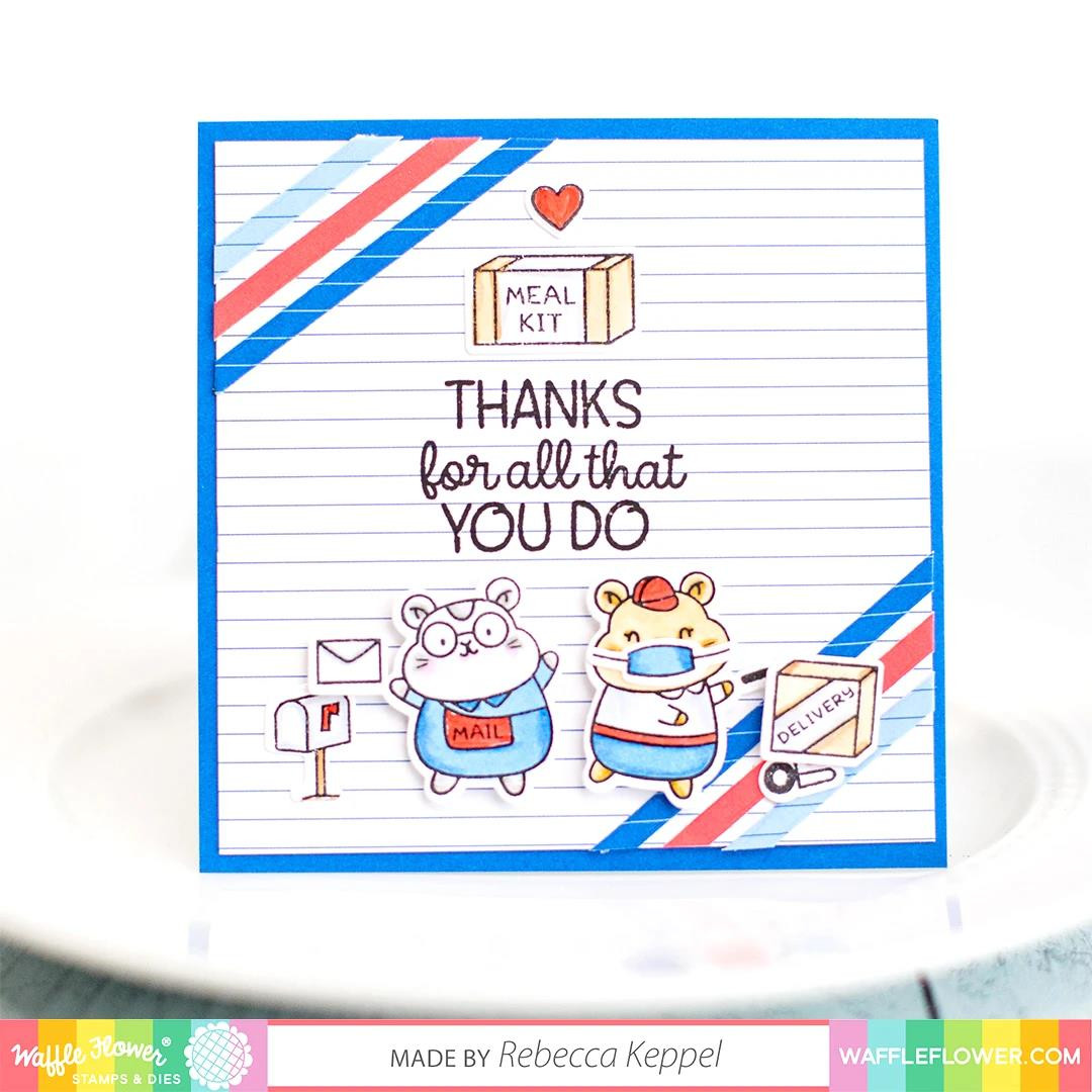 Frontline Heroes 2, Waffle Flower Clear Stamps -