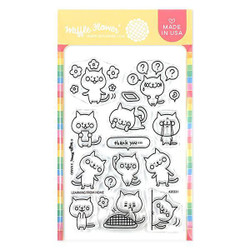 Learning from Home, Waffle Flower Clear Stamps -
