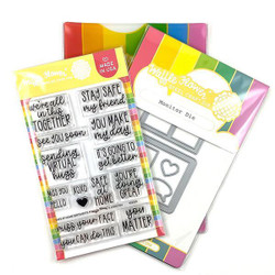Safe at Home, Waffle Flower Stamp & Die Combo -