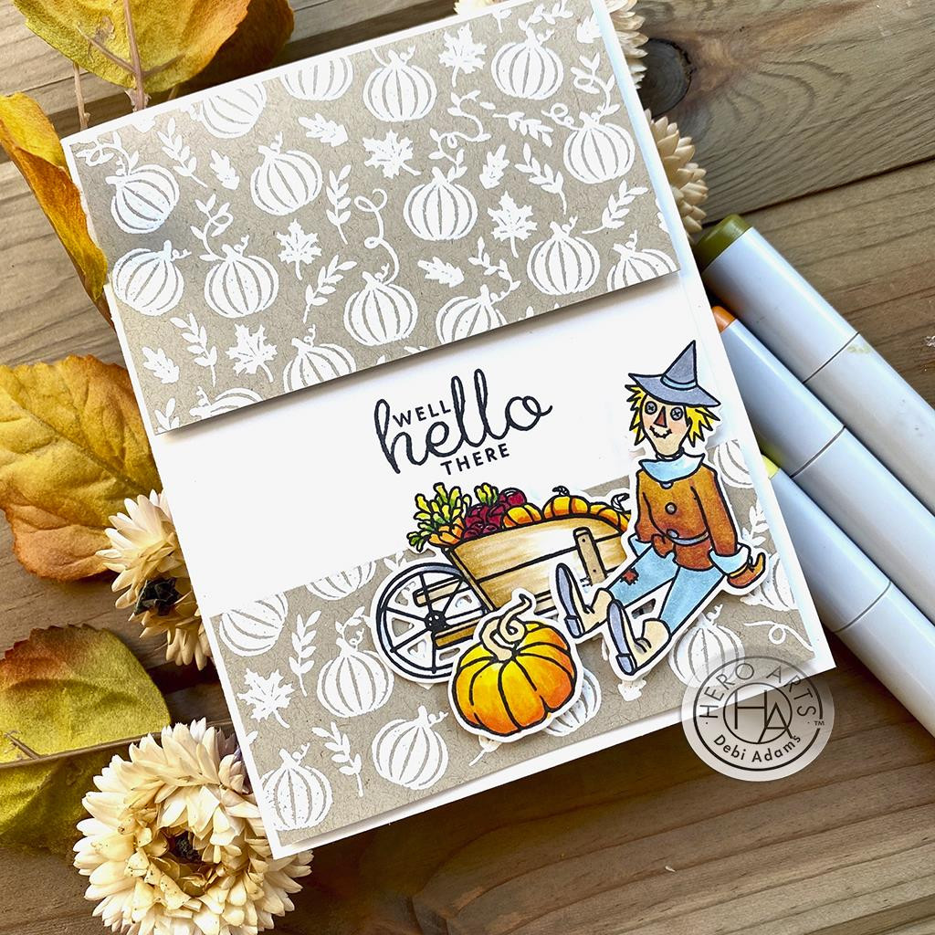 Pumpkin Patch Bold Prints, Hero Arts Cling Stamps - 085700928182