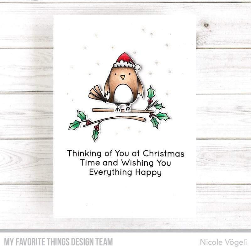 Christmas Cardinals, My Favorite Things Clear Stamps - 849923036723
