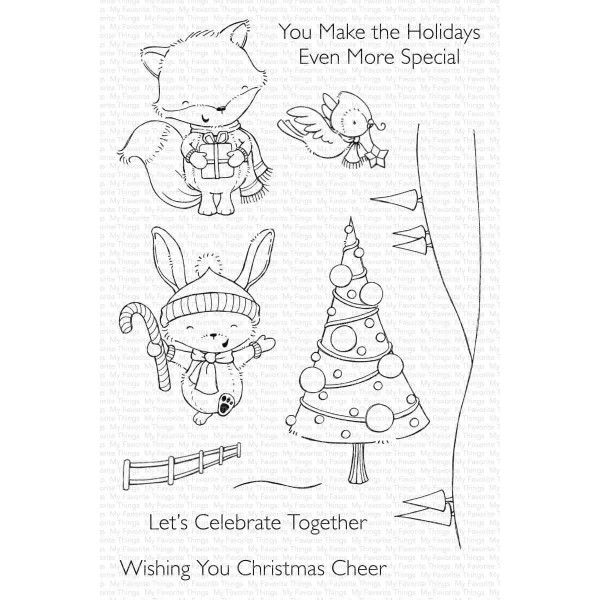 Christmas Cheer by Stacey Yacula, My Favorite Things Clear Stamps - 849923036693