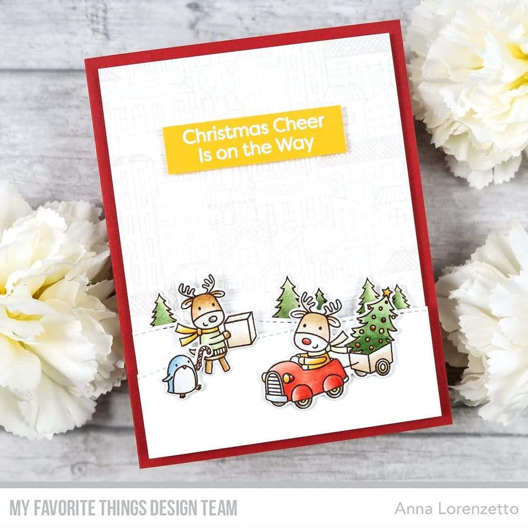 City Block Background, My Favorite Things Cling Stamps - 849923037003