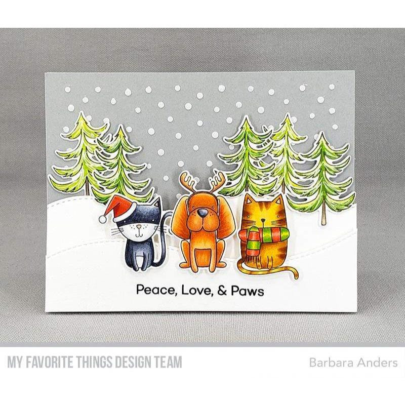 Peace, Love, & Paws, My Favorite Things Clear Stamps - 849923036716