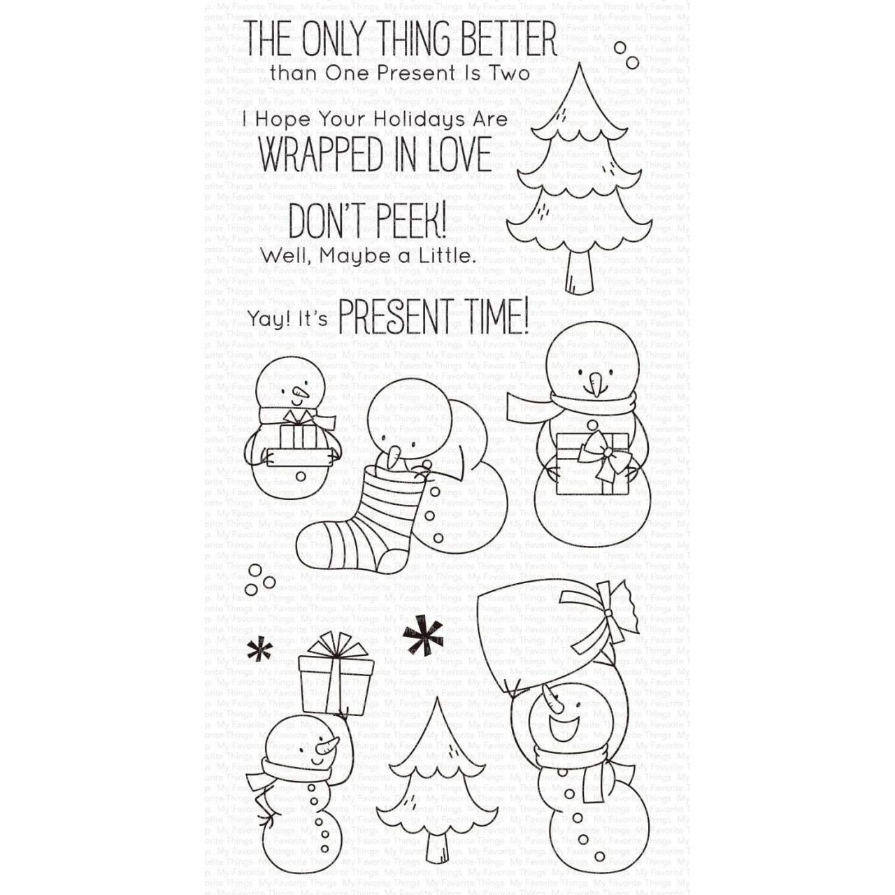 Present time by Birdie Brown, My Favorite Things Clear Stamps - 849923036686