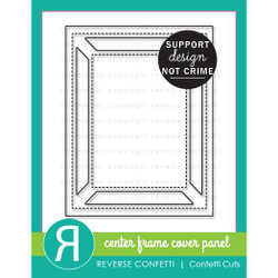 Center Frame Cover Panel, Reverse Confetti Cuts -