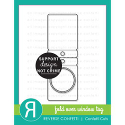 Fold Over Window Tag, Reverse Confetti Cuts -
