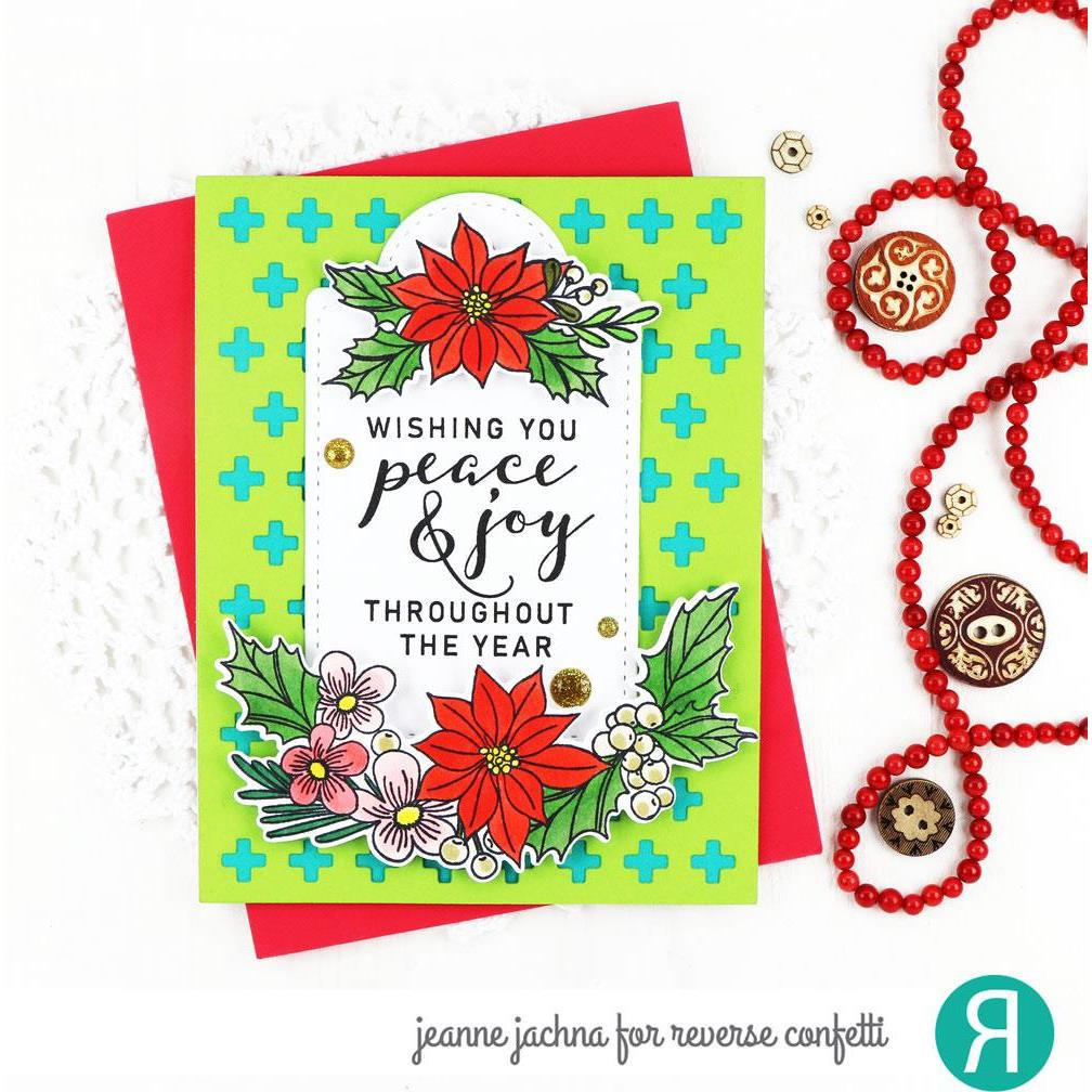 Holiday Bough, Reverse Confetti Clear Stamps -