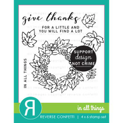 In All Things, Reverse Confetti Clear Stamps -